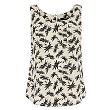 Buy Oasis Palm Print Vest, Black/White Online at johnlewis.com