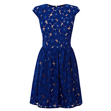 Buy Oasis Lace Paris Dress, Rich Blue Online at johnlewis.com