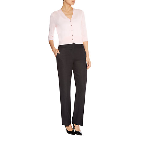 Buy Havren Washed Linen Trousers, Black Online at johnlewis.com