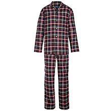 Buy John Lewis Brushed Check Pyjamas, Navy Online at johnlewis.com