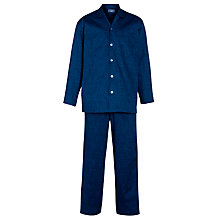 Buy John Lewis Cotton Poplin Archive Print Pyjamas, Blue Online at johnlewis.com