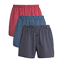 Buy John Lewis Woven Boxer Shorts, Pack of 3 Online at johnlewis.com