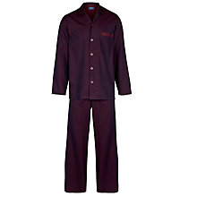 Buy John Lewis Striped Pyjamas, Burgundy Online at johnlewis.com