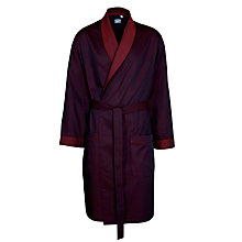 Buy John Lewis Two Way Stripe Robe, Burgundy Online at johnlewis.com