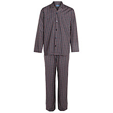 Buy John Lewis Cotton Saville Row Poplin Check Pyjamas, Navy Online at johnlewis.com
