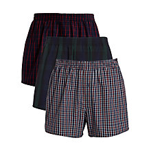 Buy John Lewis Woven Boxer Shorts, Black/Green/Blue Online at johnlewis.com