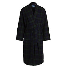Buy John Lewis Brushed Cotton Check Robe, Navy/Grey Online at johnlewis.com