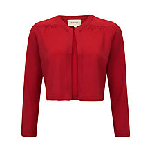 Buy Havren Gathered Cardigan, Scarlet Online at johnlewis.com