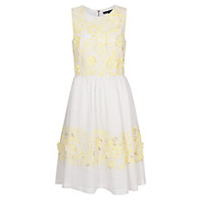 Buy French Connection Lotus Cutwork Dress, Techno Valley Online at johnlewis.com