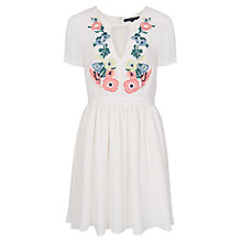 Buy French Connection Melrose Stitch Flared Dress, Classic Cream Online at johnlewis.com