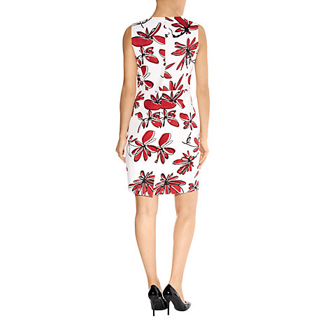 Buy Havren Deep Pocket Detail Floral Dress, Scarlet Online at johnlewis.com