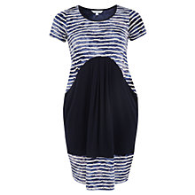 Buy Chesca Navy Tie Dye Stripe Fancy & Plain Jersey Dress, Navy Online at johnlewis.com