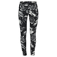 Buy French Connection Lotus Denim Leggings, Black Multi Online at johnlewis.com