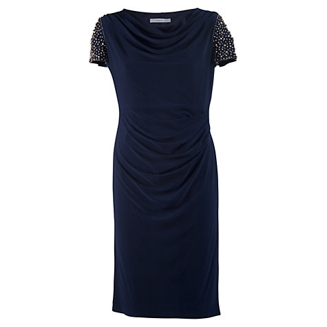 Buy Chesca Bead Sleeve Dress, Navy Online at johnlewis.com
