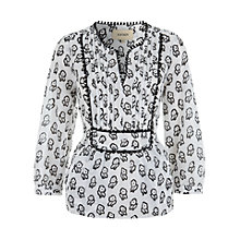 Buy Havren Wood Block Flower Top, White/Black Online at johnlewis.com