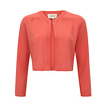 Buy Havren Gathered Cardigan, Coral Online at johnlewis.com