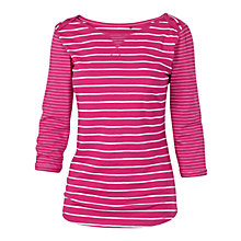 Buy Fat Face Striped Lille T-Shirt, Cerise Online at johnlewis.com