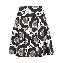 Buy Havren Scribble Flower Skirt, White Combo Online at johnlewis.com