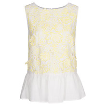 Buy French Connection Lotus Cutwork Top, Techno Valley Online at johnlewis.com