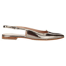 Buy Jigsaw Zoe Slingback Flat Leather Sandals Online at johnlewis.com