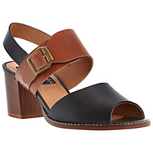 Buy Bertie Halla Buckle Trim Colour Block Heeled Sandals Online at johnlewis.com