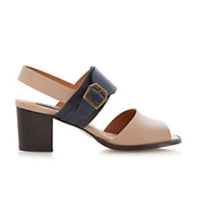 Buy Bertie Halla Buckle Trim Colour Block Heeled Leather Sandals Online at johnlewis.com
