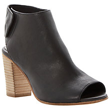 Buy Dune Felicity Soft Leather Open Toe Ankle Boots Online at johnlewis.com