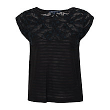 Buy French Connection Spring Silhouette Jersey Top Online at johnlewis.com