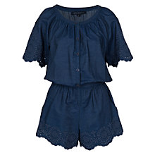 Buy French Connection Morgana Lace Playsuit, Indigo Online at johnlewis.com