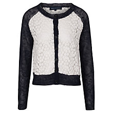 Buy French Connection Laila Lace Button Cardigan Online at johnlewis.com