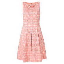 Buy Adrianna Papell Embellished Pleat Dress, Coral Online at johnlewis.com