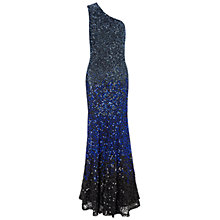Buy Gina Bacconi Asymmetric Beaded Dress, Blue Online at johnlewis.com