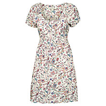 Buy Fat Face Bridlington Bird Dress, Ivory Online at johnlewis.com