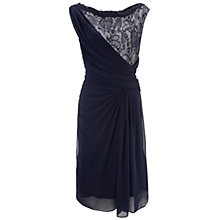 Buy Gina Bacconi Chiffon Lace Bodice Dress, Navy Online at johnlewis.com
