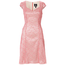 Buy Adrianna Papell Salmon Seamed Flounce Skirt Dress, Salmon Online at johnlewis.com