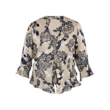 Buy Chesca Applique Devoree Silk Blend Shrug, Vanilla/Navy Online at johnlewis.com