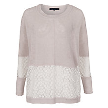 Buy French Connection Laila Lace Panel Jumper, Oatmeal Online at johnlewis.com