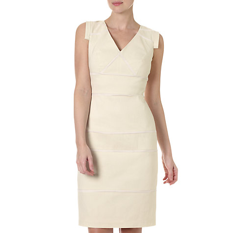 Buy Adrianna Papell Placed Insets Dress, Almond Online at johnlewis.com