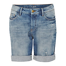 Buy French Connection Distressed Denim Shorts, Sunbleach Online at johnlewis.com