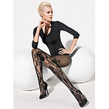 Buy Wolford Evelyn Tights, Black Online at johnlewis.com