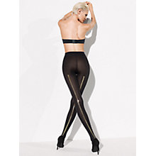 Buy Wolford Zip Tights, Black Online at johnlewis.com