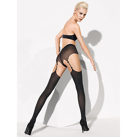 Buy Wolford Shania Tights, Sahara / Black Online at johnlewis.com