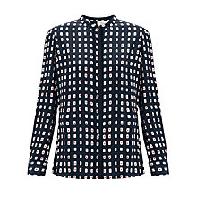 Buy Somerset by Alice Temperley Kimono Print Blouse, Black Online at johnlewis.com