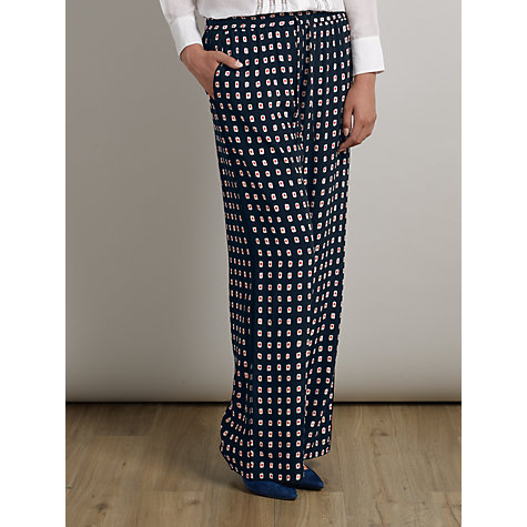 Buy Somerset by Alice Temperley Kimono Print Trousers, Black Online at johnlewis.com