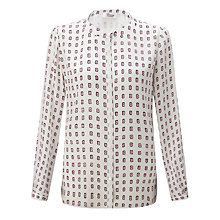 Buy Somerset by Alice Temperley Kimono Print Blouse, Cream Online at johnlewis.com