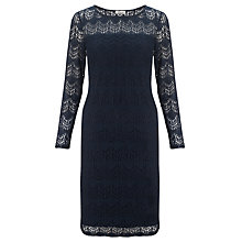 Buy Somerset by Alice Temperley Deco Lace Shift Dress, Navy Online at johnlewis.com