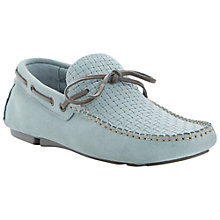 Buy Bertie Benzel Suede Driving Shoes, Blue Online at johnlewis.com