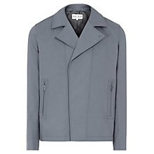 Buy Reiss Suffix Midweight Cotton Jacket, Light Blue Online at johnlewis.com