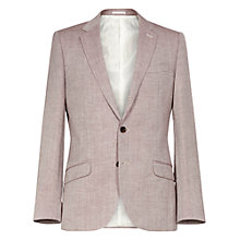 Buy Reiss Nassau 2-Button Textured Blazer, Rose Online at johnlewis.com