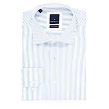 Buy Daniel Hechter Fine Stripe Tailored Shirt, Blue Online at johnlewis.com